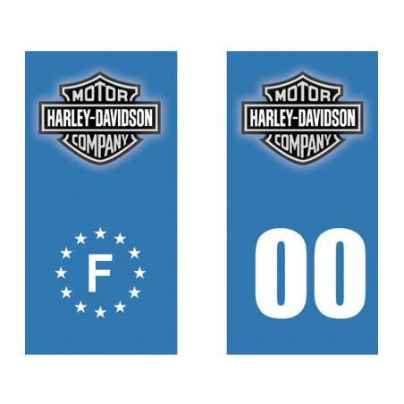 Stickers plaque immatriculation moto Harley Davidson