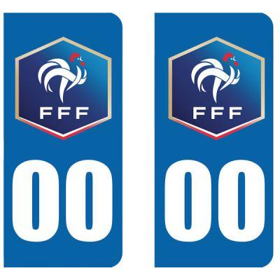 Stickers pour plaque immatriculation FFF