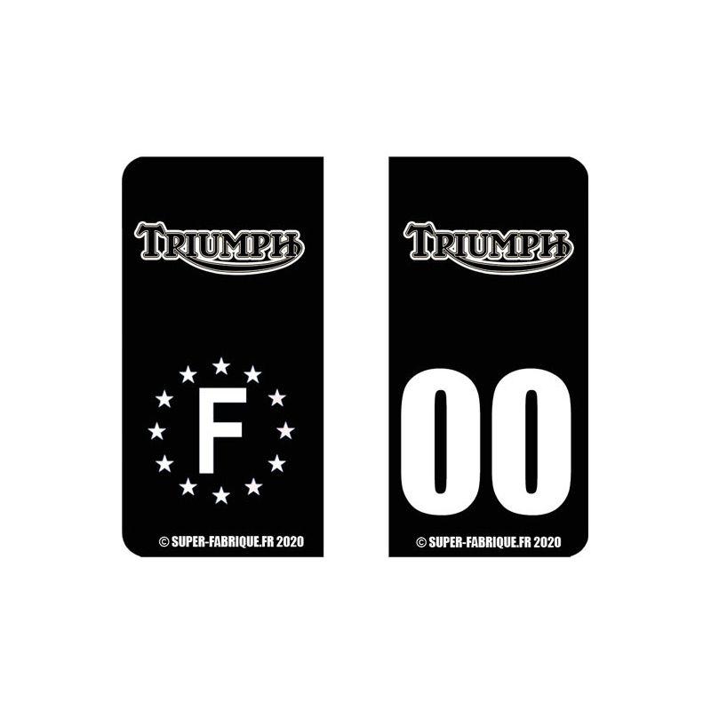 Stickers plaque moto triumph