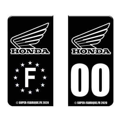 Autocollant plaque immat moto Honda