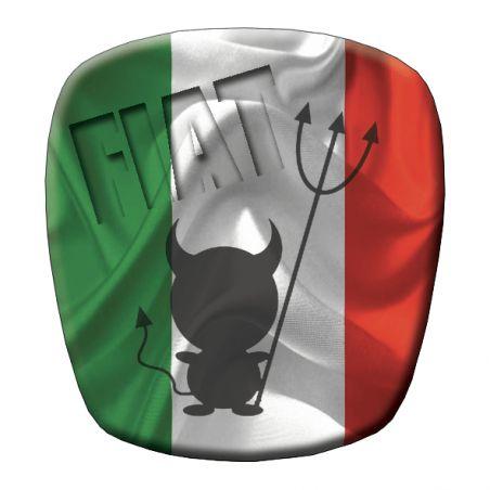 Stickers remplacement logo Fiat 500 volant