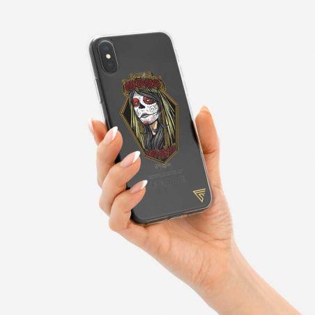 Coque pour iphone Tete de mort mexicaine femme