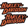 Stickers casque moto Harley Davidson