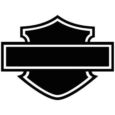 Stickers casque moto noir Harley Davidson