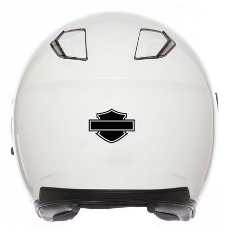 Autocollant casque moto