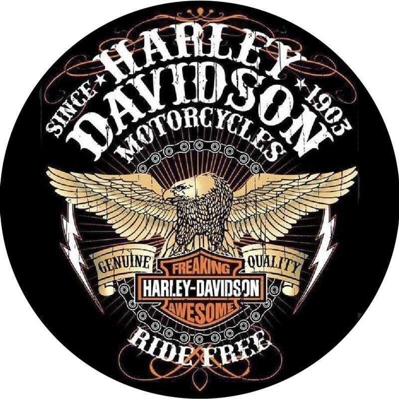 Stickers rétro éclairant harley Davidson Free Ride