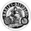 Stickers rétro éclairant casque moto Harley Davidson Pin Up