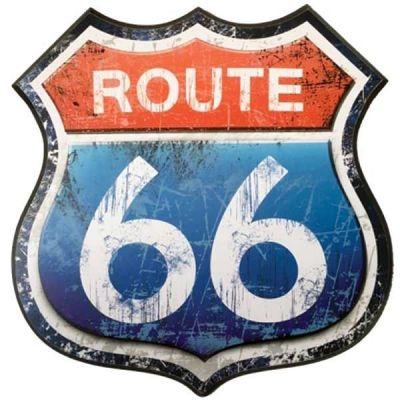 Autocollant casque moto Route 66