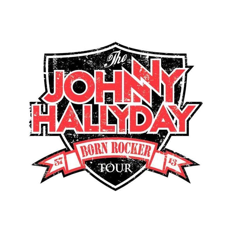 Stickers rétro Réfléchissant Casque moto Johnny Hallyday