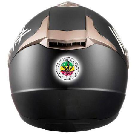 Stickers casque moto cannabis