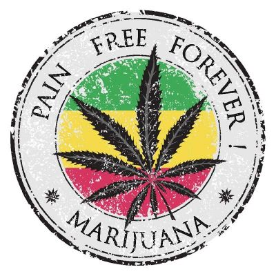 Stickers pour casque de moto rétro éclairant Cannabis Marijuana