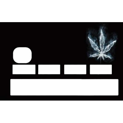 Sticker carte bancaire feuille de cannabis