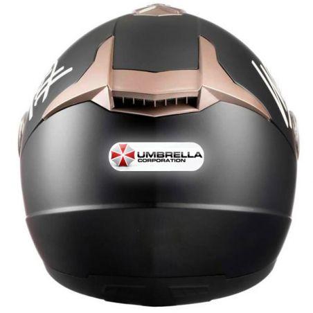 Sticker casque moto Umbrella corporation