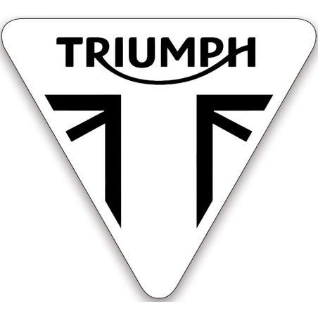Sticker logo Triumph retro eclairant