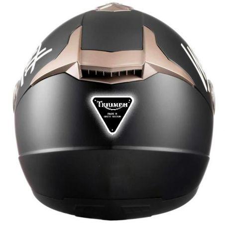 Autocollant retro éclairant casque moto