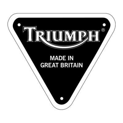 Sticker casque moto Triumph retro éclairant