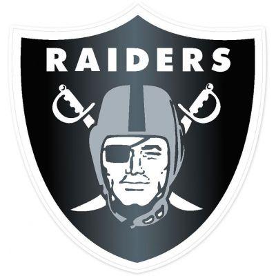 Sticker casque moto rétro éclairant Raiders