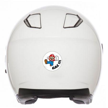 Stickers casque moto mario