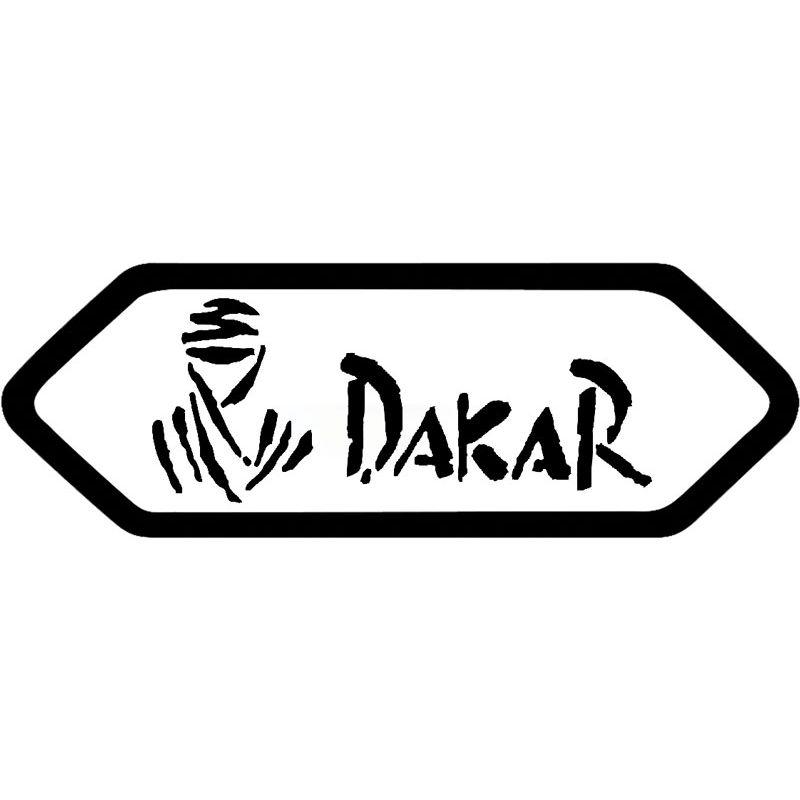 Sticker rétro éclairant Dakar pour casque shoei