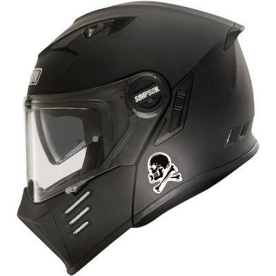 Sticker  casque moto Tête...