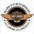 Sticker Harley Davidson casque moto