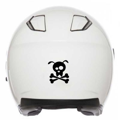 Sticker casque de moto Tête...