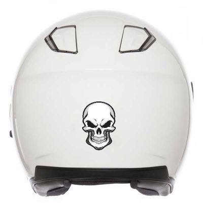 Sticker Tête de mort casque...