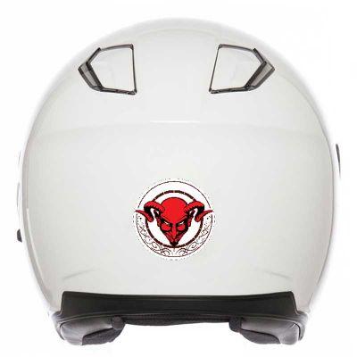 Sticker Diable casque moto