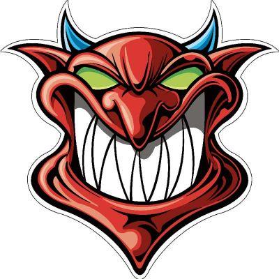 Sticker Tête de Diable