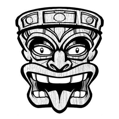 Stickers Polynésien masque
