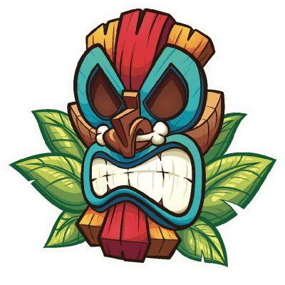 Sticker masque Polynésien