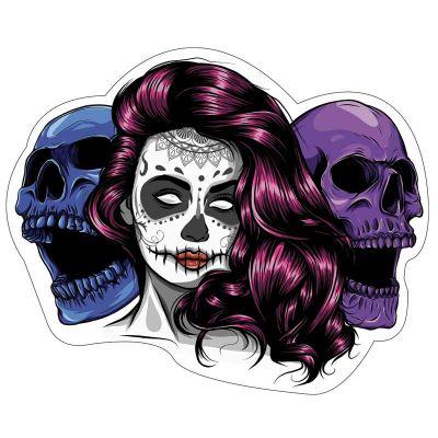 Sticker casque moto Chicano