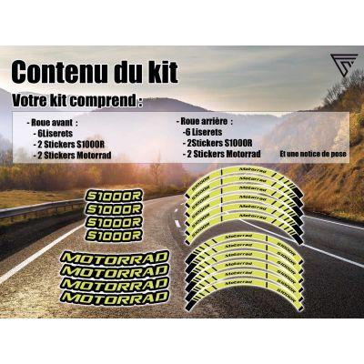 Stickers jante moto BMW S1000R
