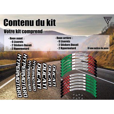 Kit  Stickers jante moto...