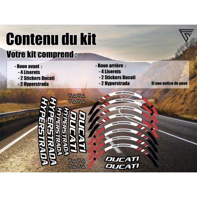 Stickers jante moto Ducati...
