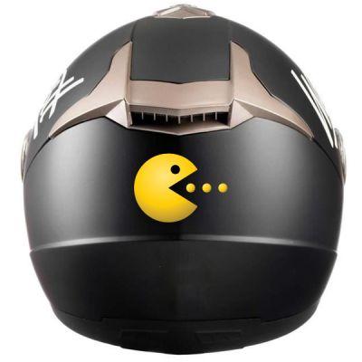Stickers pour casque Pac man