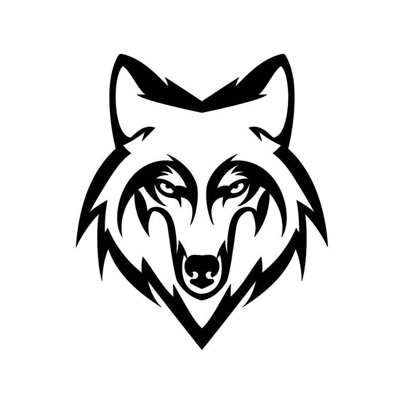 Stickers retro éclairant tete de loup pour casque de moto