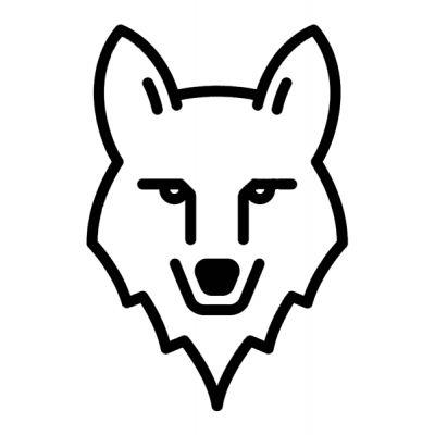 Stickers rétro éclairant pour casque de moto tete de loup