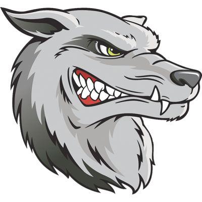 Stickers déco pour casque de moto tête de loup