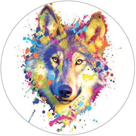 Stickers deco casque moto tete de loup
