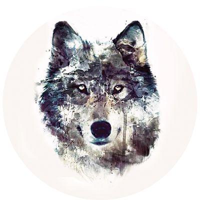 Stickers deco casque de moto tête de loup