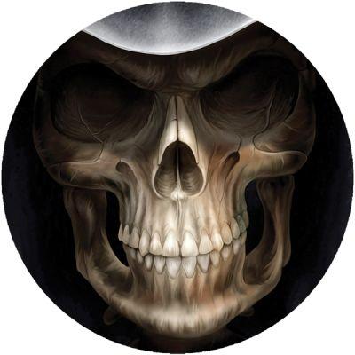 Stickers casque moto tete de mort