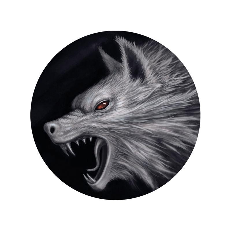 Stickers casque moto tête de loup