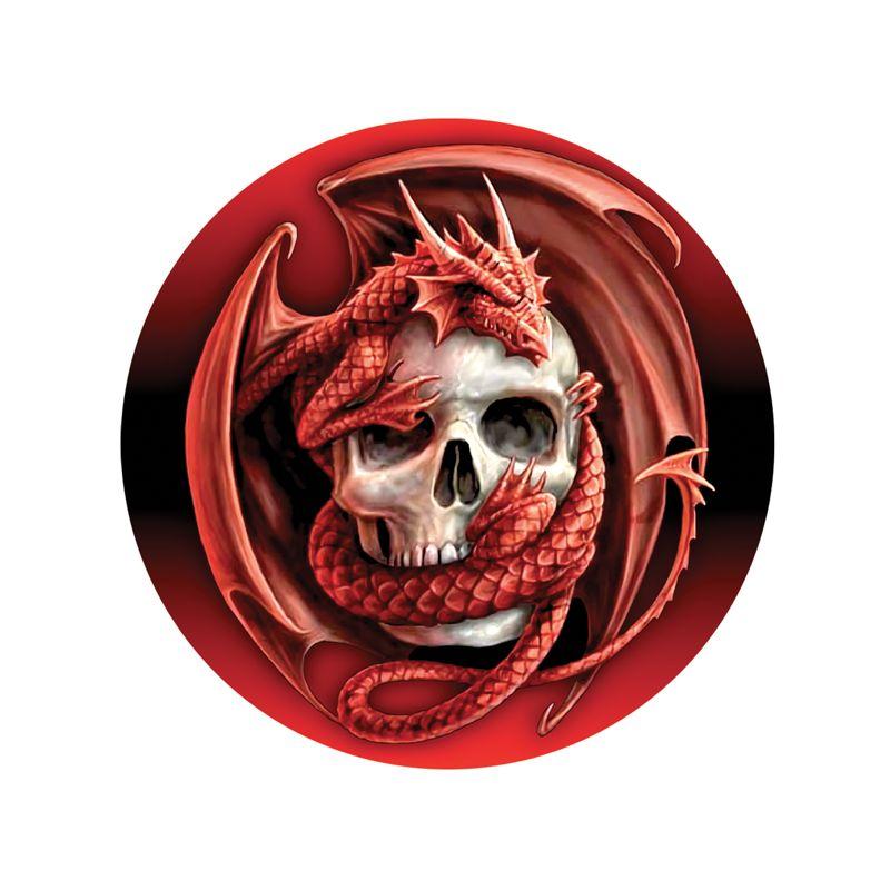Stickers déco pour casque de moto tête de mort avec dragon