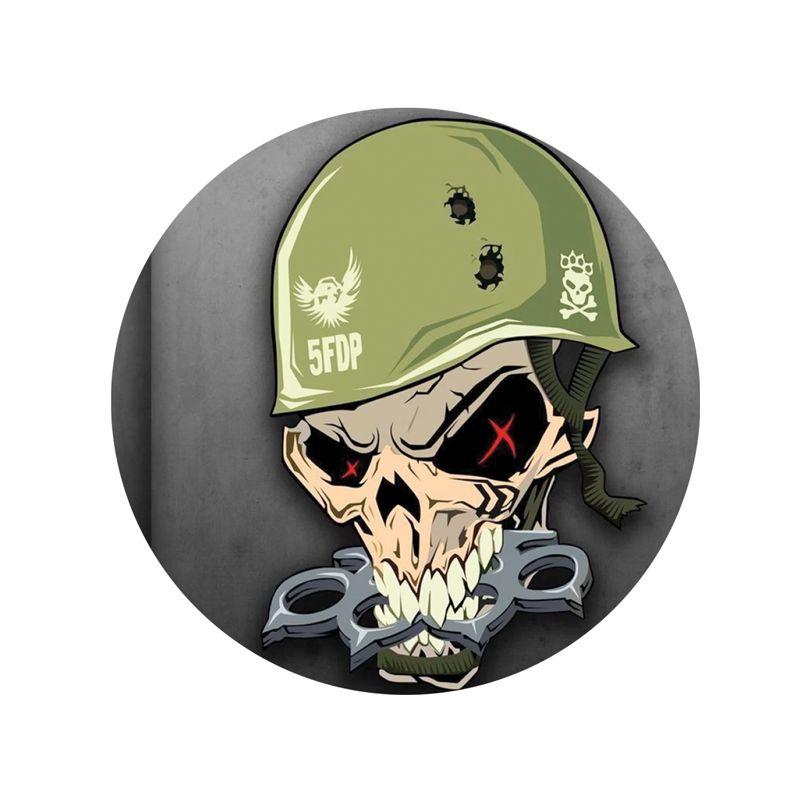 Stickers rétro éclairant casque moto tete de mort armee