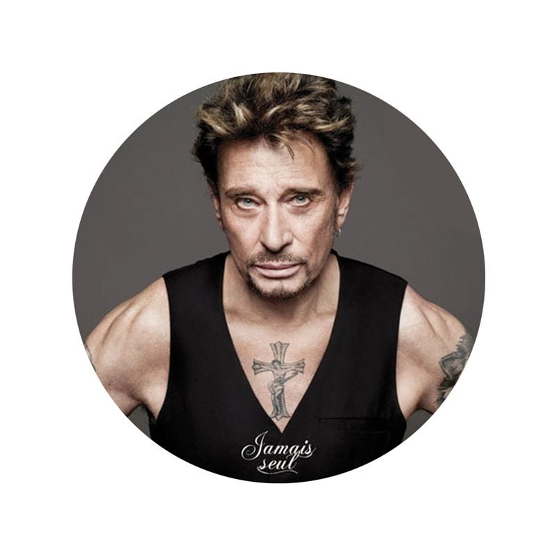Stickers deco casque Harley Johnny Hallyday