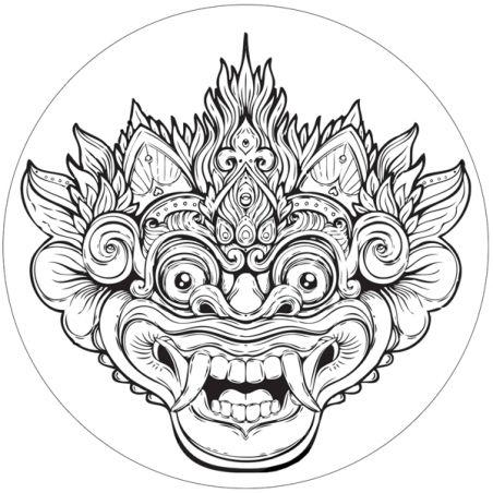 Stickers deco casque moto Barong