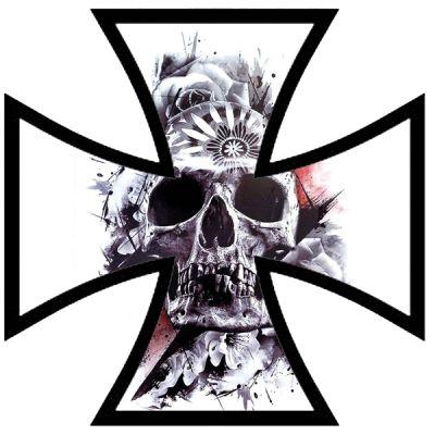 Stickers croix de fer rétro réfléchissant