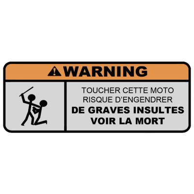 Stickers Warning Moto