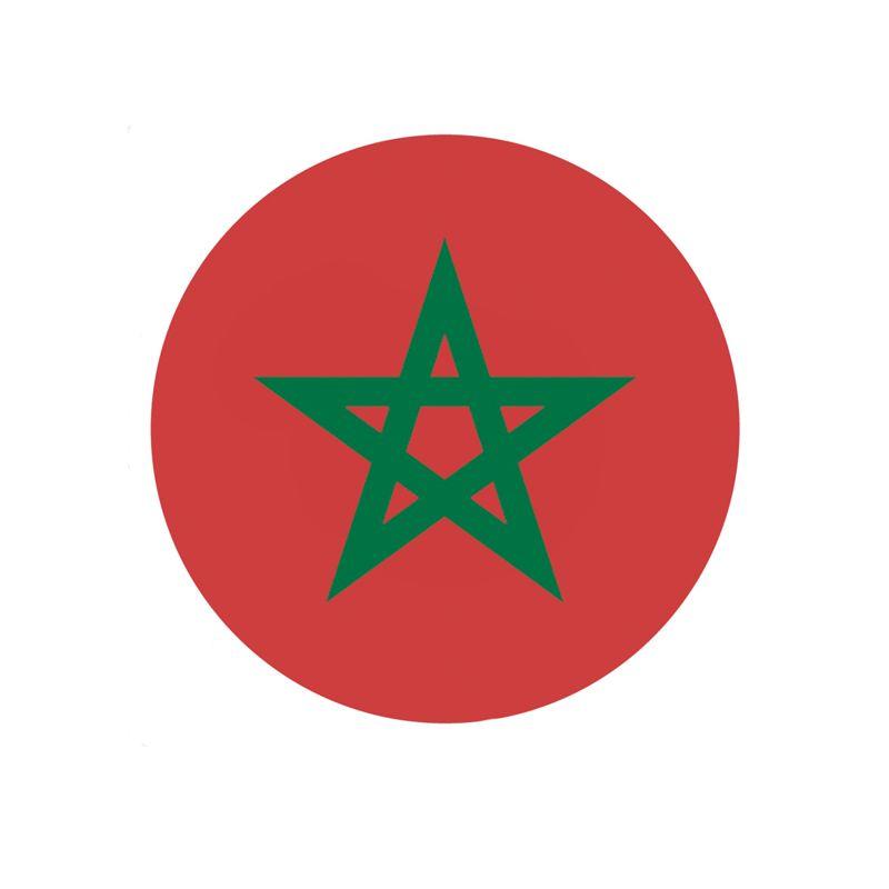 Stickers pour casque de moto ou scooter drapeau Maroc